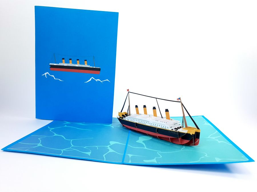 Cruise Boat Pop Up Card