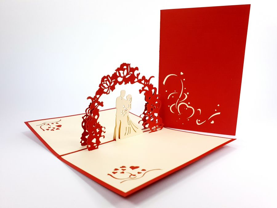 Wedding under Arch Pop Up Card