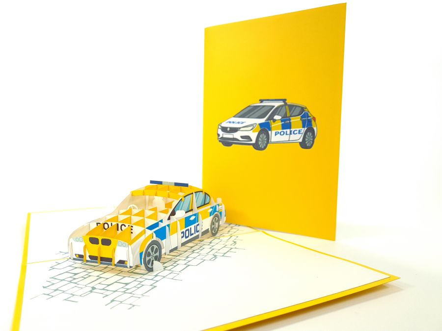 Police Car Pop Up Card
