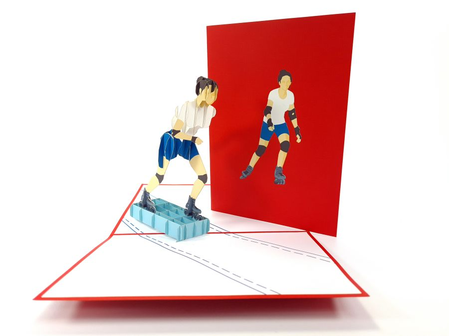 Roller Skating Pop Up Card