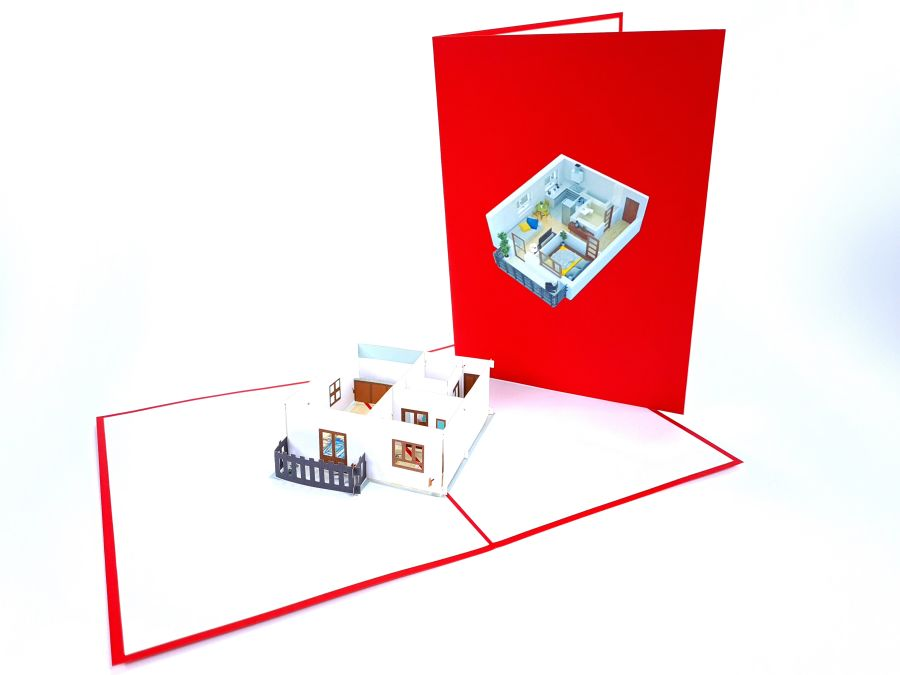 New Flat Pop Up Card
