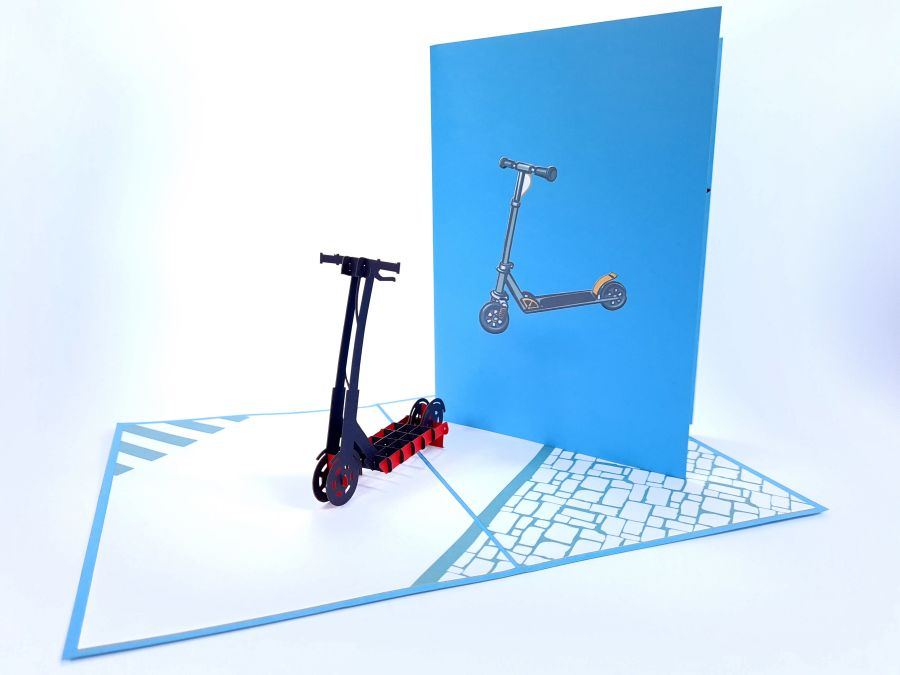 Electric Scooter Pop Up Card