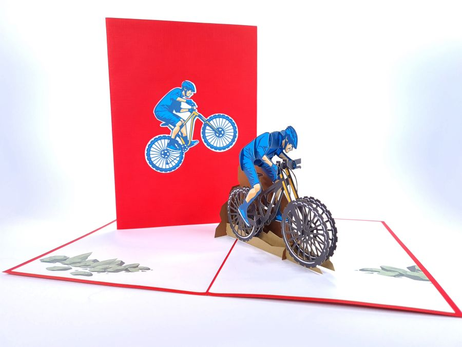 MTB Bike Pop Up Card