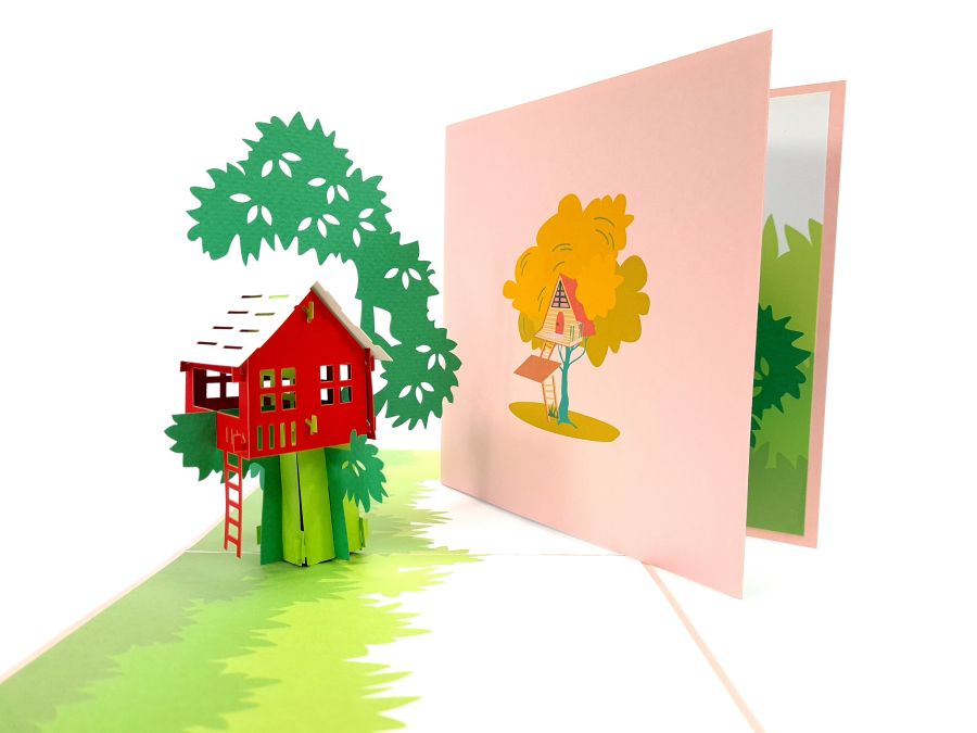 Treehouse Pop Up Card