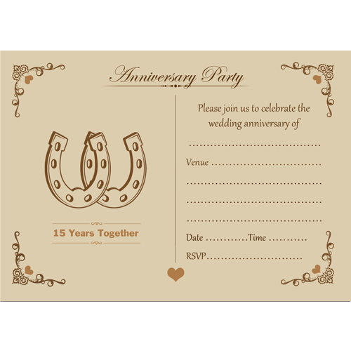 10 Anniversary Invites - 15th