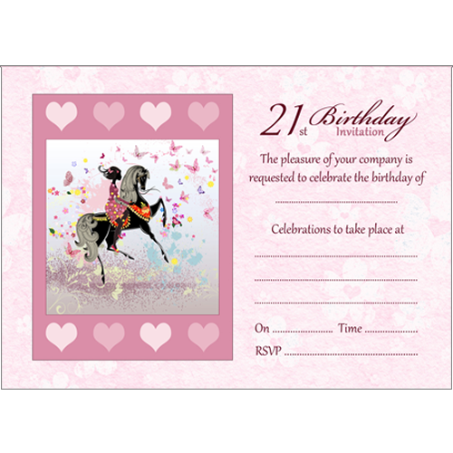 10 Birthday Invitations - 21st