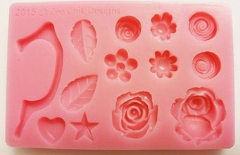 Zee chik Cup handle and Flowers Mould