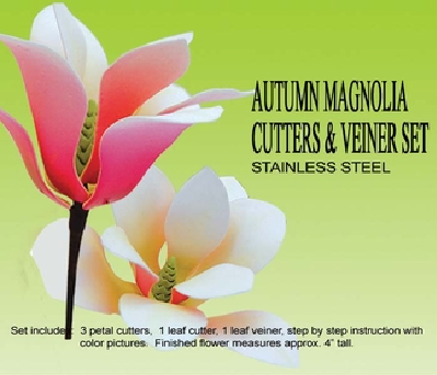 PETALCRAFTS AUTUMN MAGNOLIA cutters and veiners set
