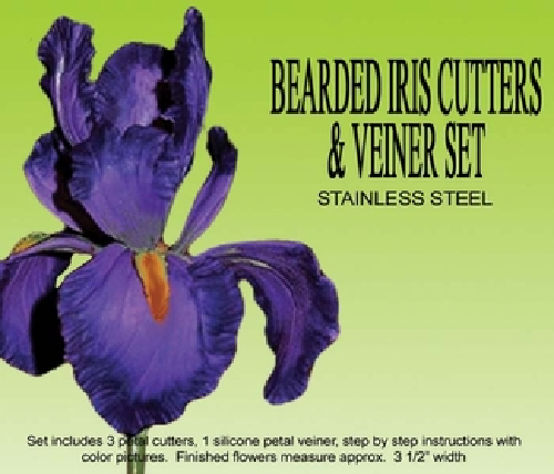 Petalcrafs BEARDED IRIS cutters and veiners set