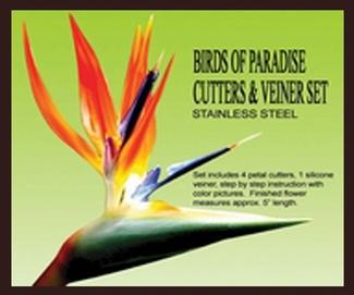 PETALC BIRDS OF PARADISE GUMPASTE CUTTER AND VEINER SET