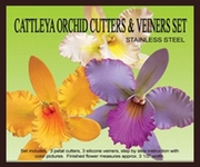 PETAL CATTLEYA ORCHID GUMPASTE CUTTER AND VEINER SET