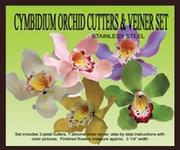 PETALCRAFTS CYMBIDIUM ORCHID GUMPASTE CUTTER AND VEINER SET