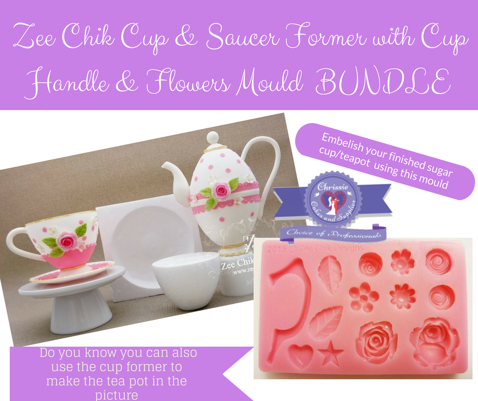 Zee Chik Cup & Saucer Former and mould bundle