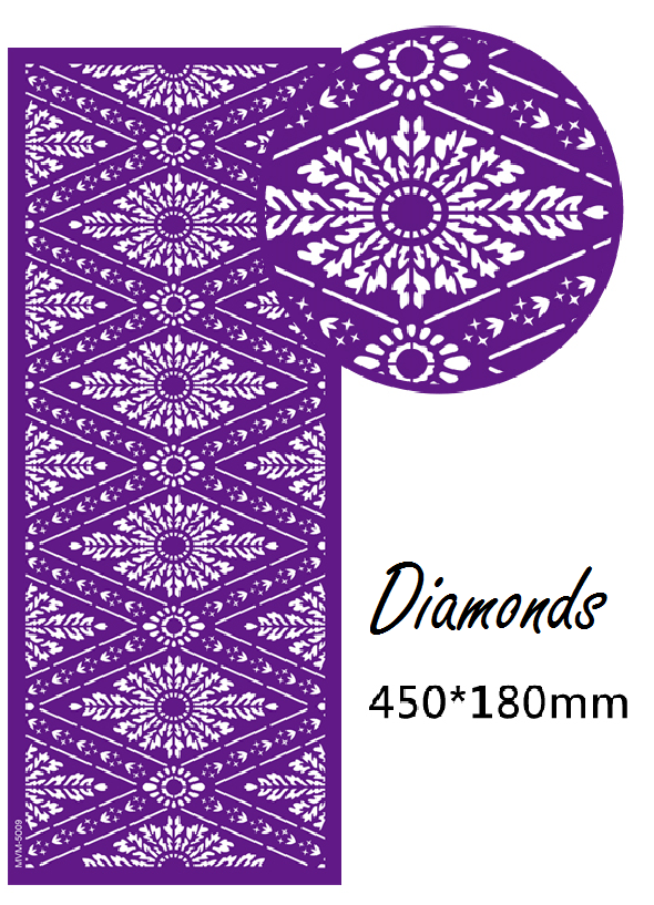 Chrissie Cakes Diamonds Mesh Stencil