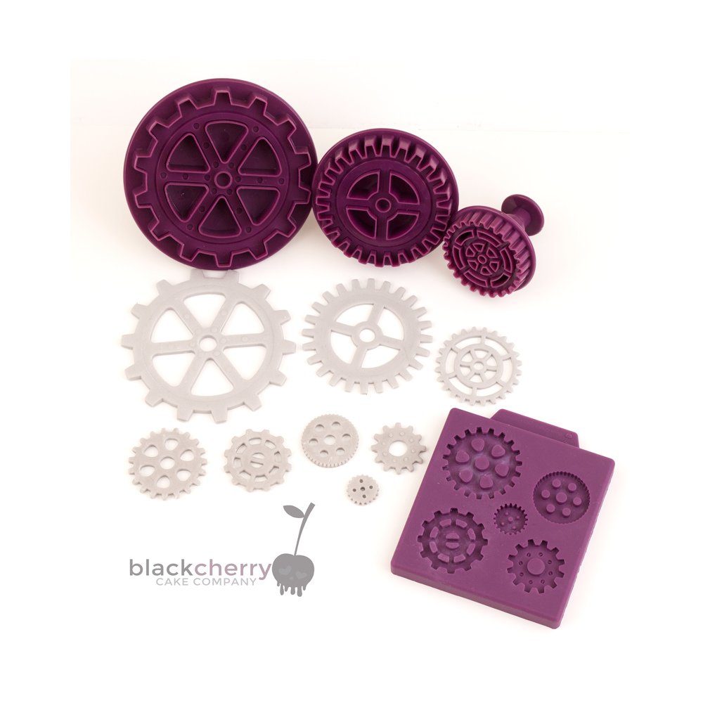BLACK CHERRY CAKE COMPANY Steampunk Gear Mould & Plunger Cutter