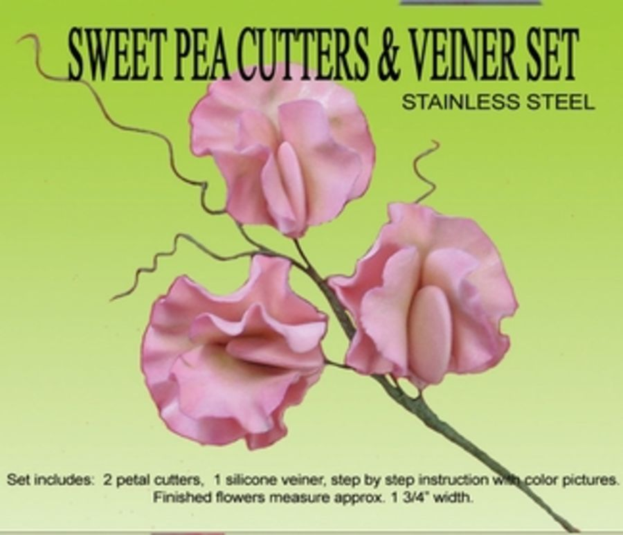 PETAL CRAFT SWEET PEA GUMPASTE CUTTER AND VEINER SET