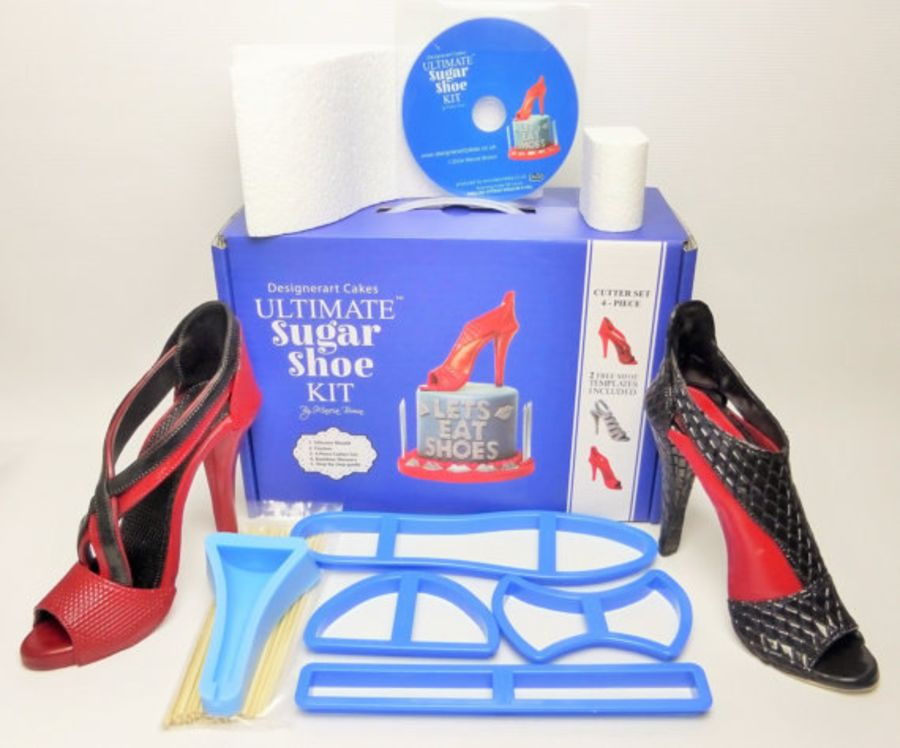 Designerart Cakes Ultimate Sugar Shoe Kit  - The Ultimate High Heel Shoe Sugar Shoe kit & Dvd Tutorial for Cake Toppers