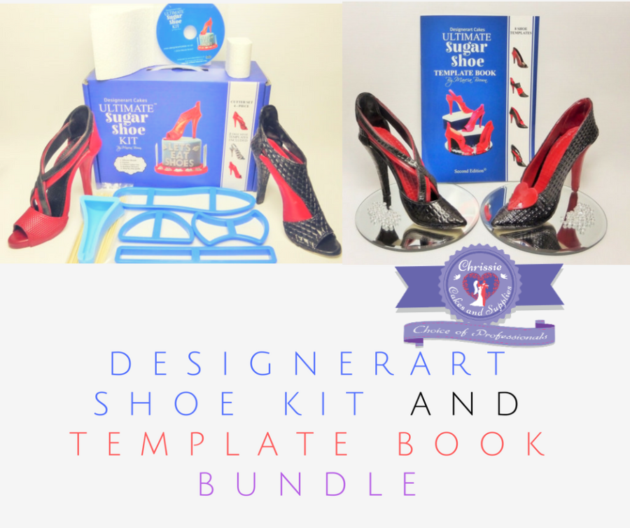 Bundle kit - Ultimate High Heel Shoe kit & Dvd Tutorial PLUS High Heel Shoe Template Book by DesignerArt Cakes