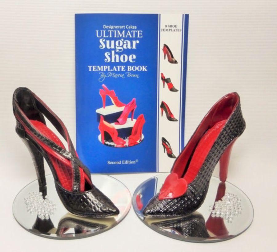 Designerart Cakes High Heel Shoe Template Book - 8 Shoe Designs Active