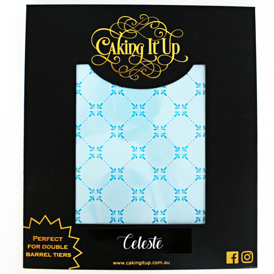 Caking It Up - CELESTE - Cake Stencil by Karen Reeves