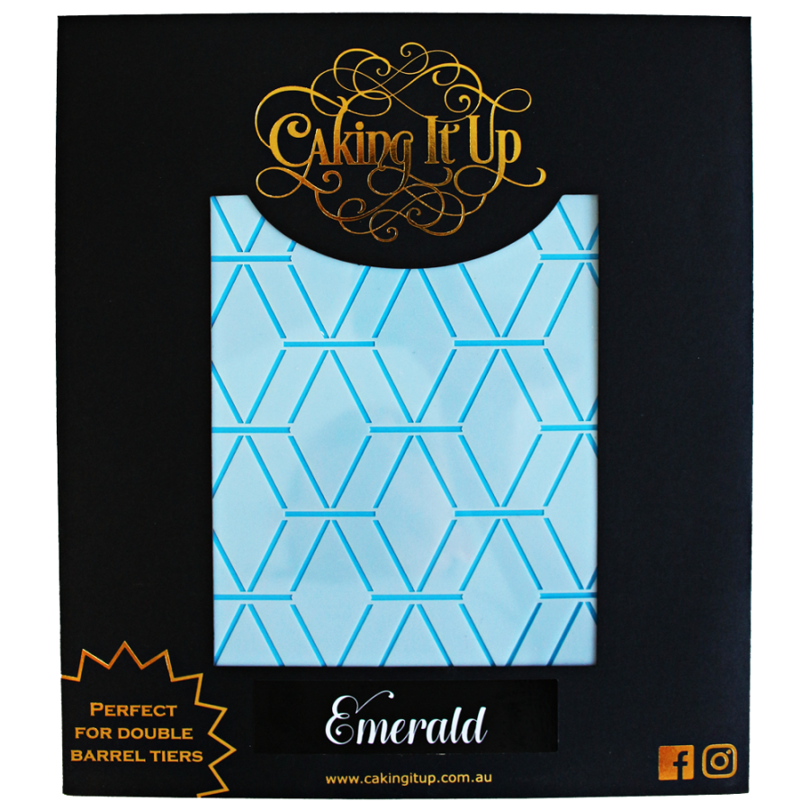 Caking It Up  – Emerald - Cake Stencil by Karen Reeves