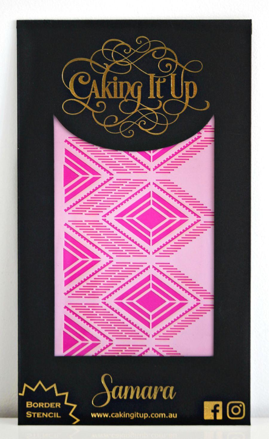 Caking It Up - SAMARA - Cake Stencil by Karen Reeves