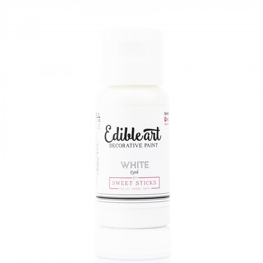 Sweet Sticks - WHITE - Edible Art Decorative Paint 15ml
