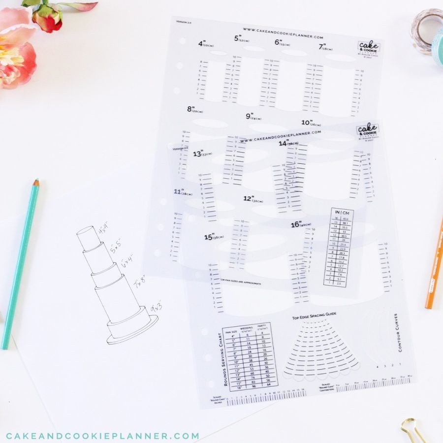Round Cake and Cookie Planner Sketching Templates v 2.0 - Avalon Cakes