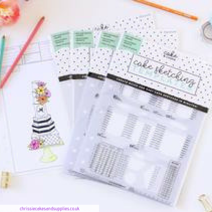 FULL SET of 4 - Cake and Cookie Planner Sketching Templates v 2.0 - Avalon Cakes