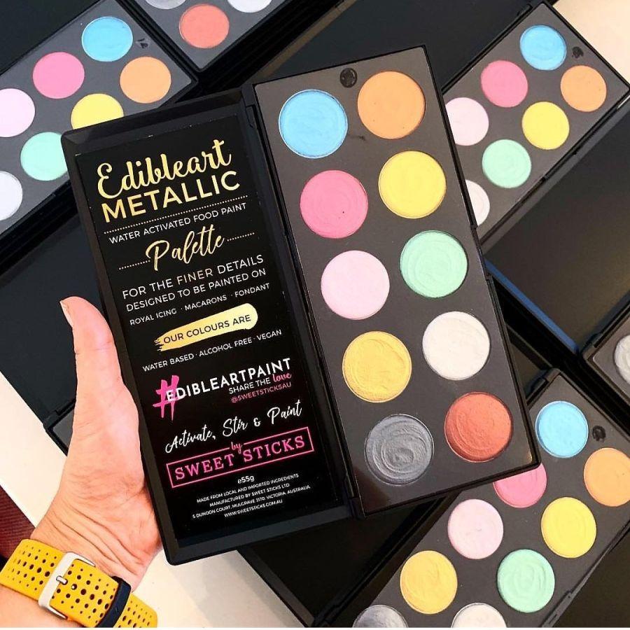 Edible Art Metallic Colour Paint Palette by Sweet Sticks