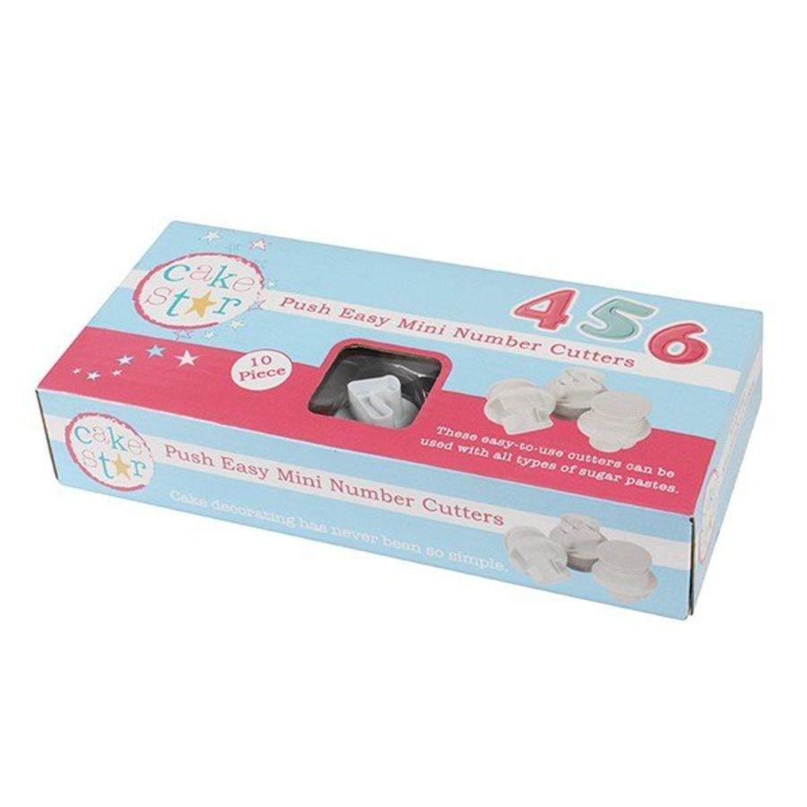 Cake Star Push Easy MINI Numbers - 10 Piece