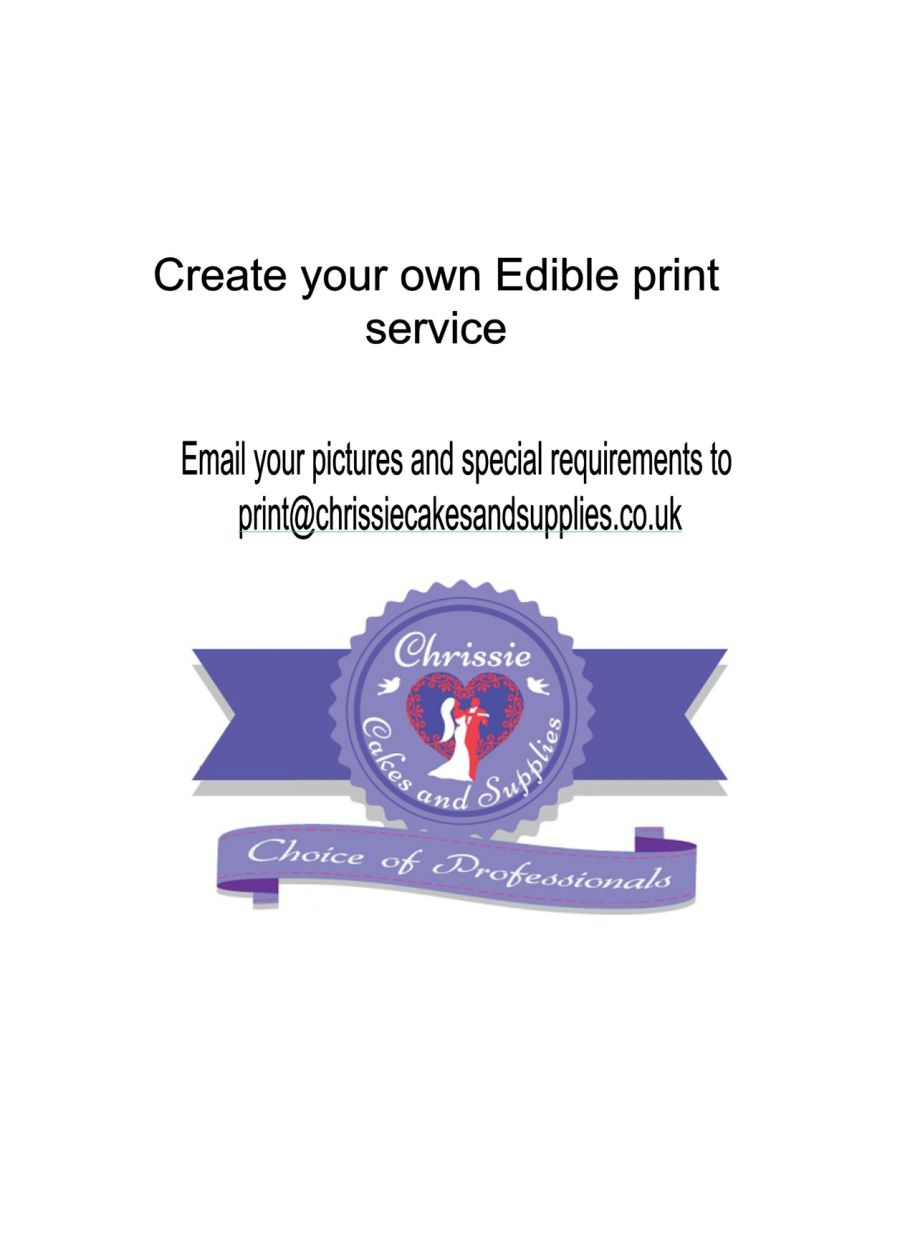 CREATE your OWN Edible Print Imaging service