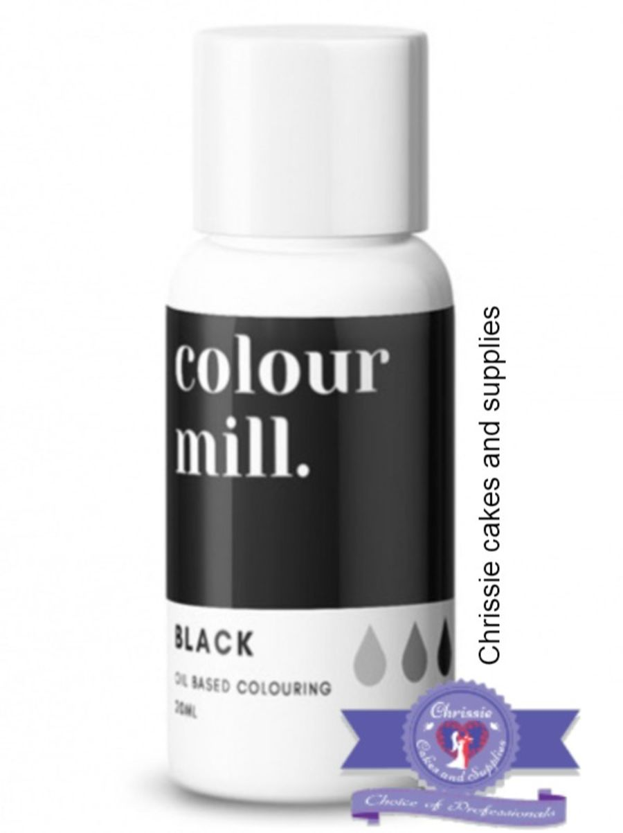COLOUR MILL - OIL BASED COLOUR - BLACK 20ML