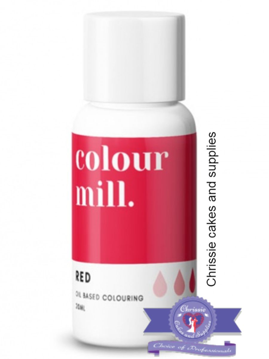 COLOUR MILL - OIL BASED COLOUR - RED 20ML