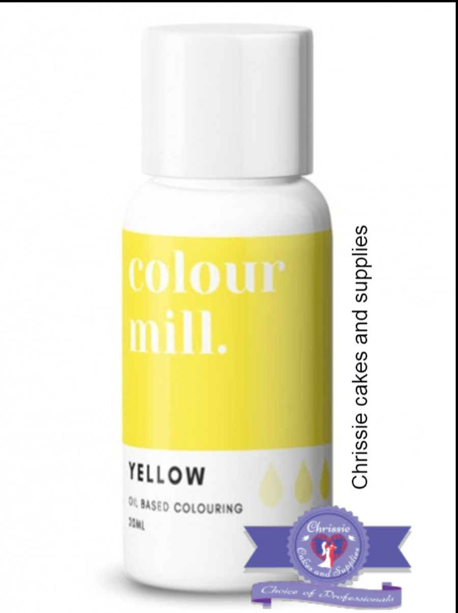 COLOUR MILL - OIL BASED COLOUR - YELLOW 20ML