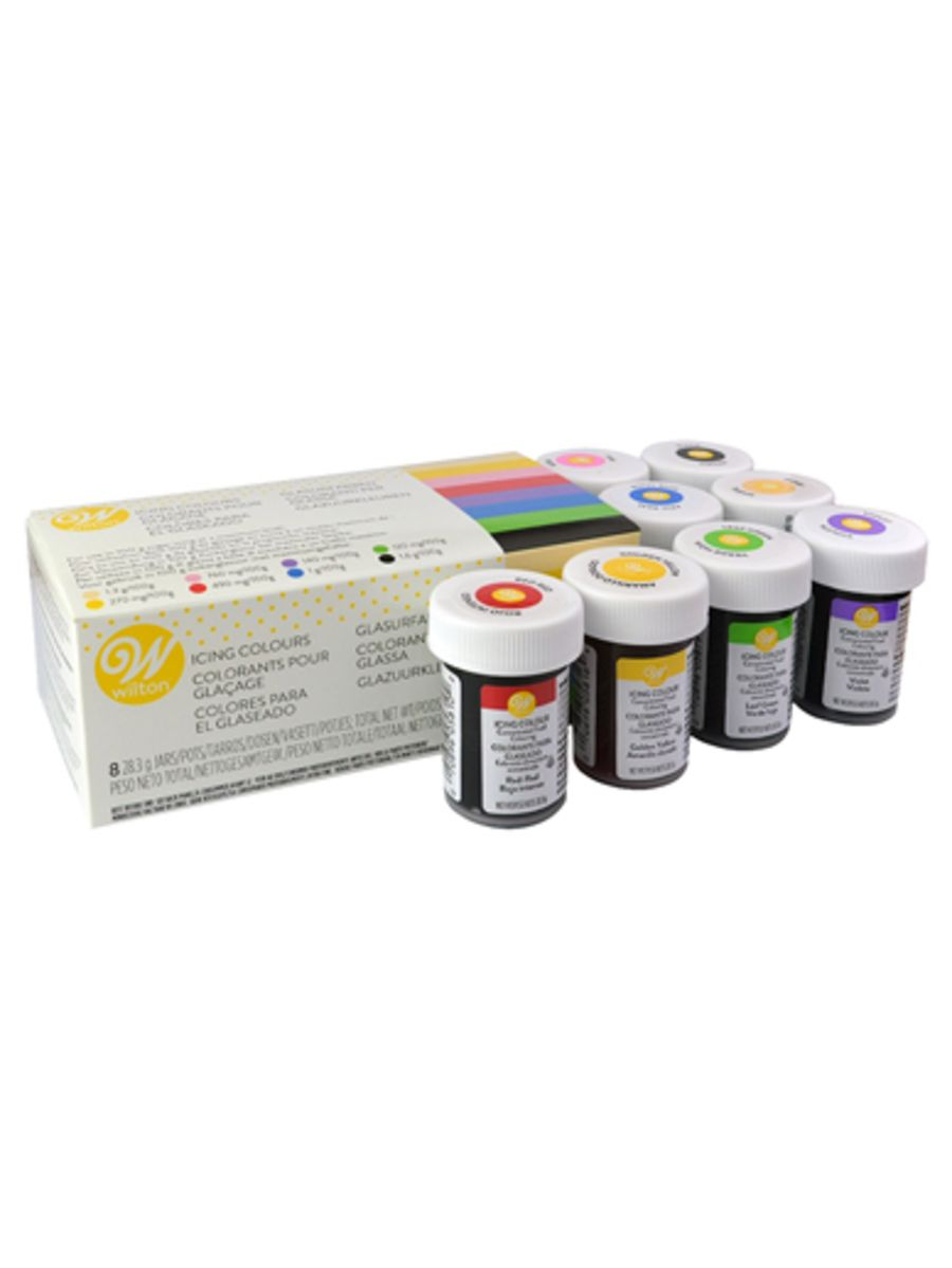 WILTON ICING COLOURS - BOX SET OF 8