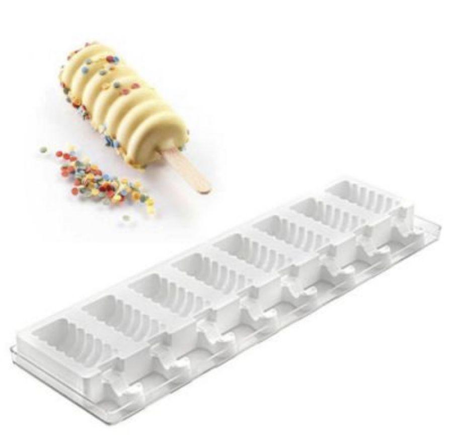 8 Cavity Mini Swirl Cakesicle Mould