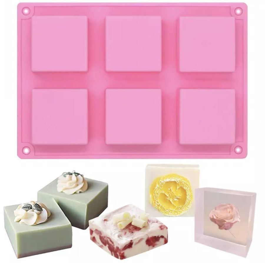 Square cake slab Cookie Silicone Chocolate Mould