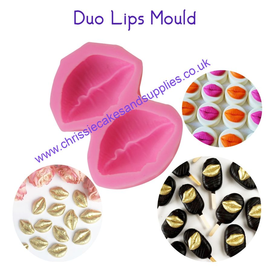 Duo Lips silicone mould