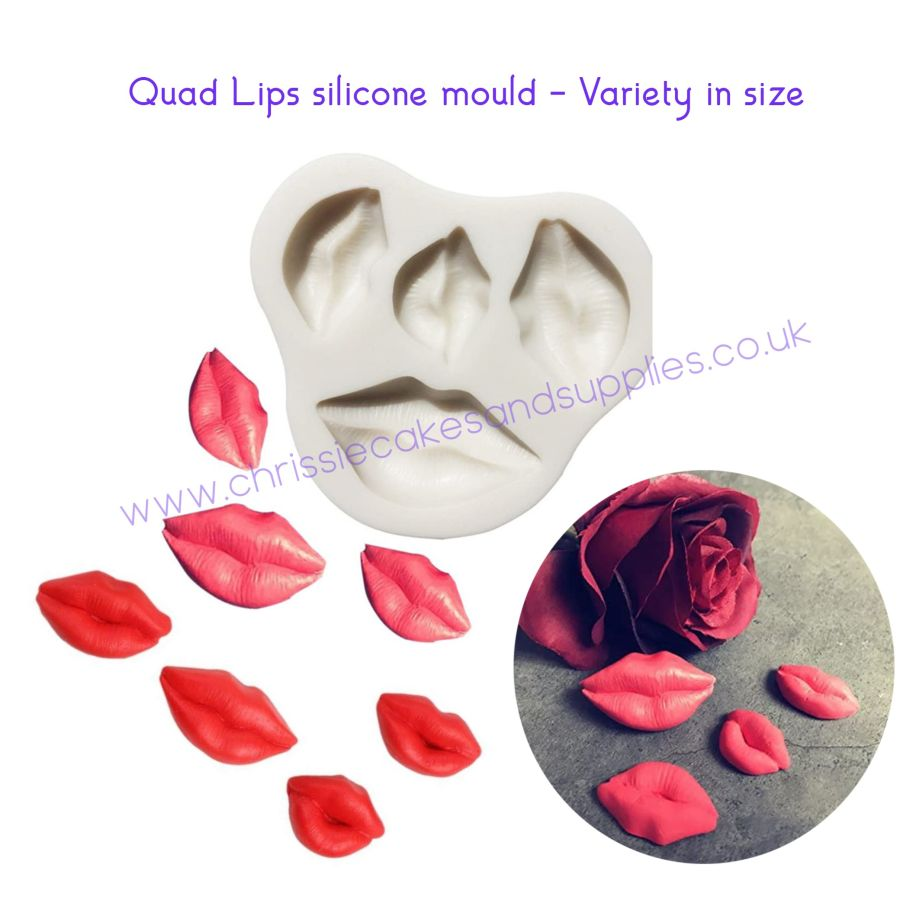 Quad Lips silicone mould - Variety in size