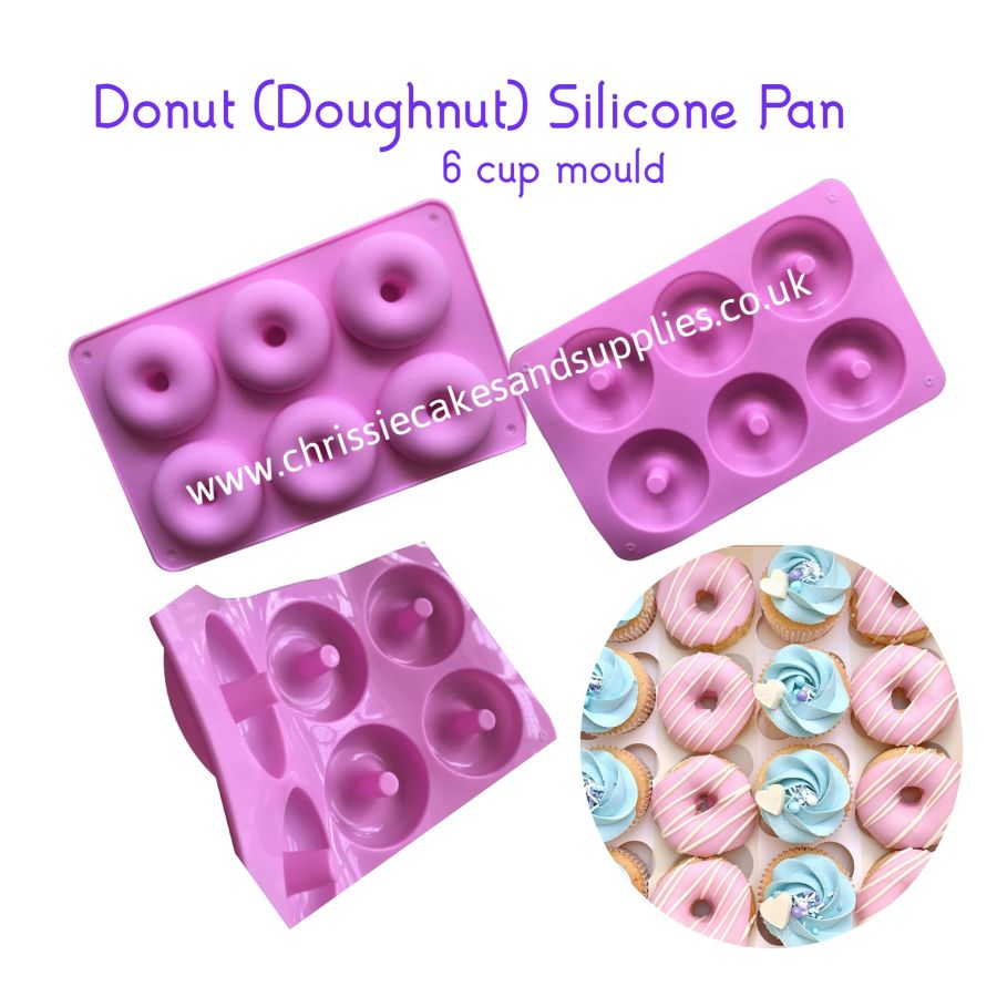 Donut 6 cup silicone mould (Doughnut)