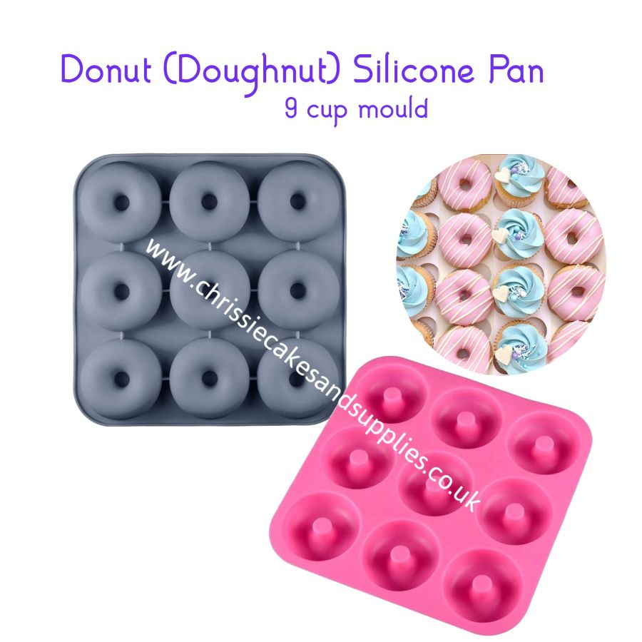 Donut - 9 cup silicone mould