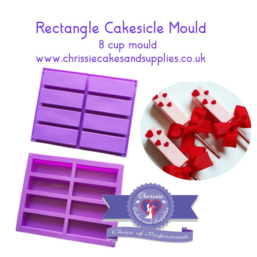 Rectangle Cakesicle Mouse Mould - 8 cup