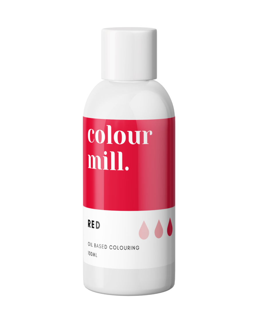 COLOUR MILL - OIL BASED COLOUR - RED 100ML