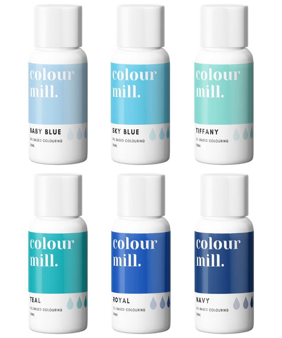 BLUE PACK - COLOUR MILL - OIL BASED COLOUR -  6 x 100ML bottles