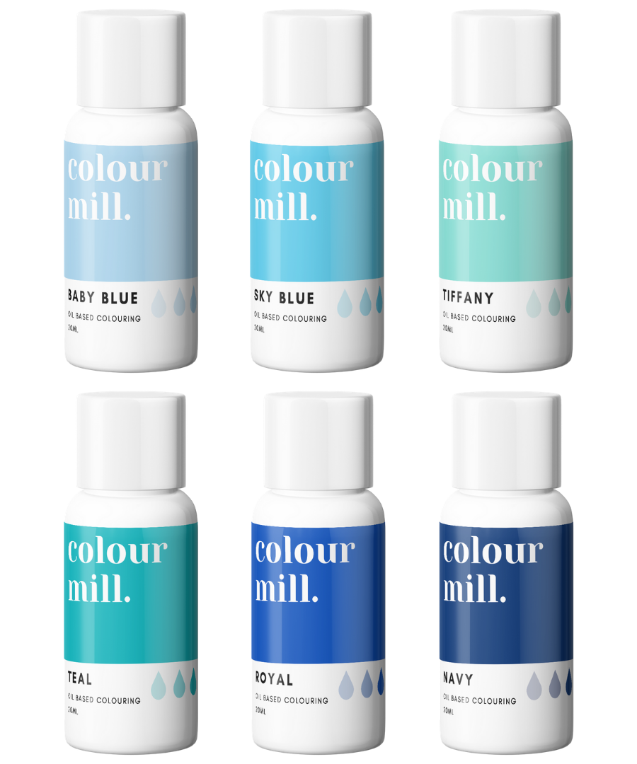 BLUE PACK - COLOUR MILL - OIL BASED COLOUR -  6 x 20ML bottles