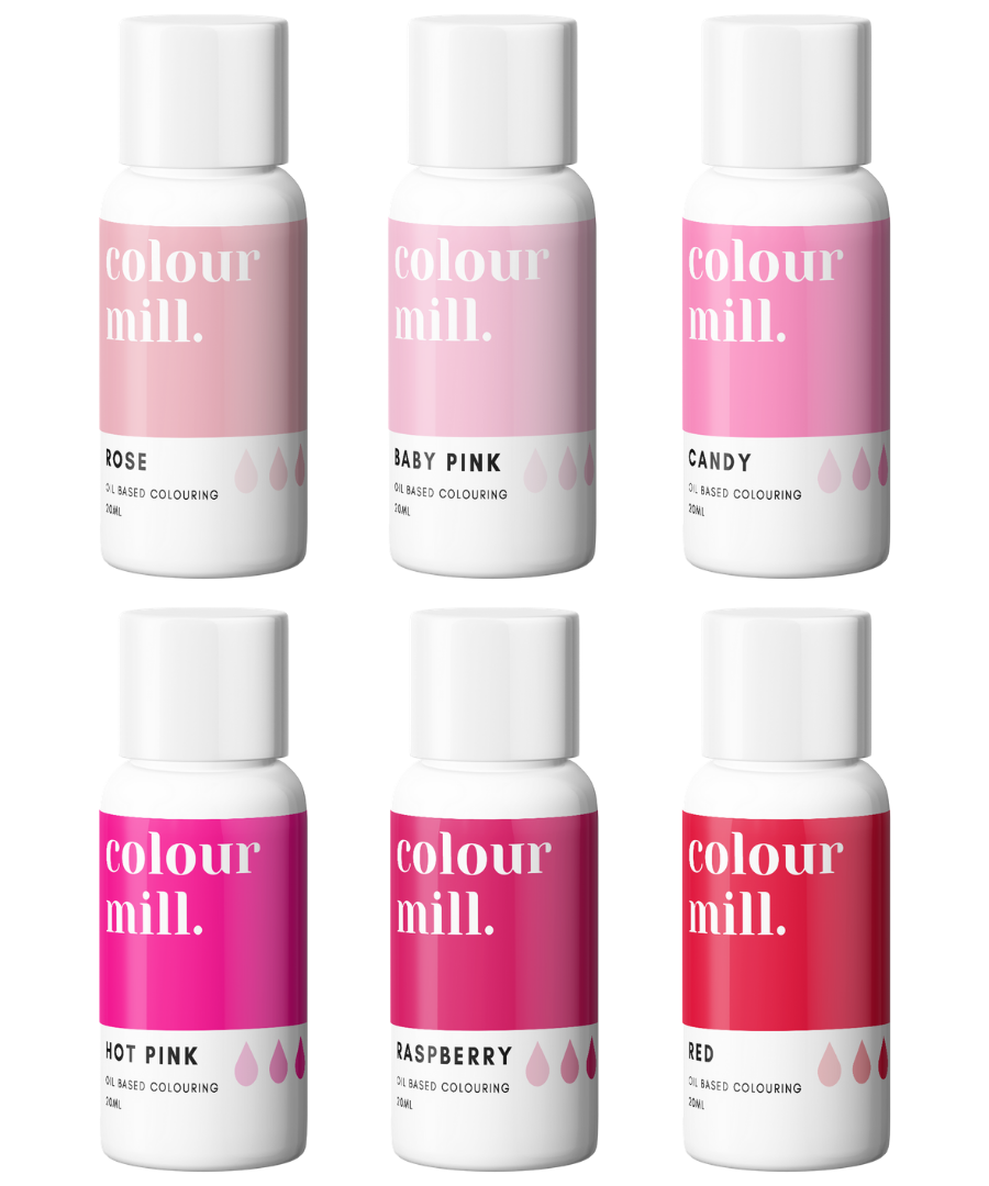 PINK PACK - COLOUR MILL - OIL BASED COLOUR -  6 x 100ML bottles