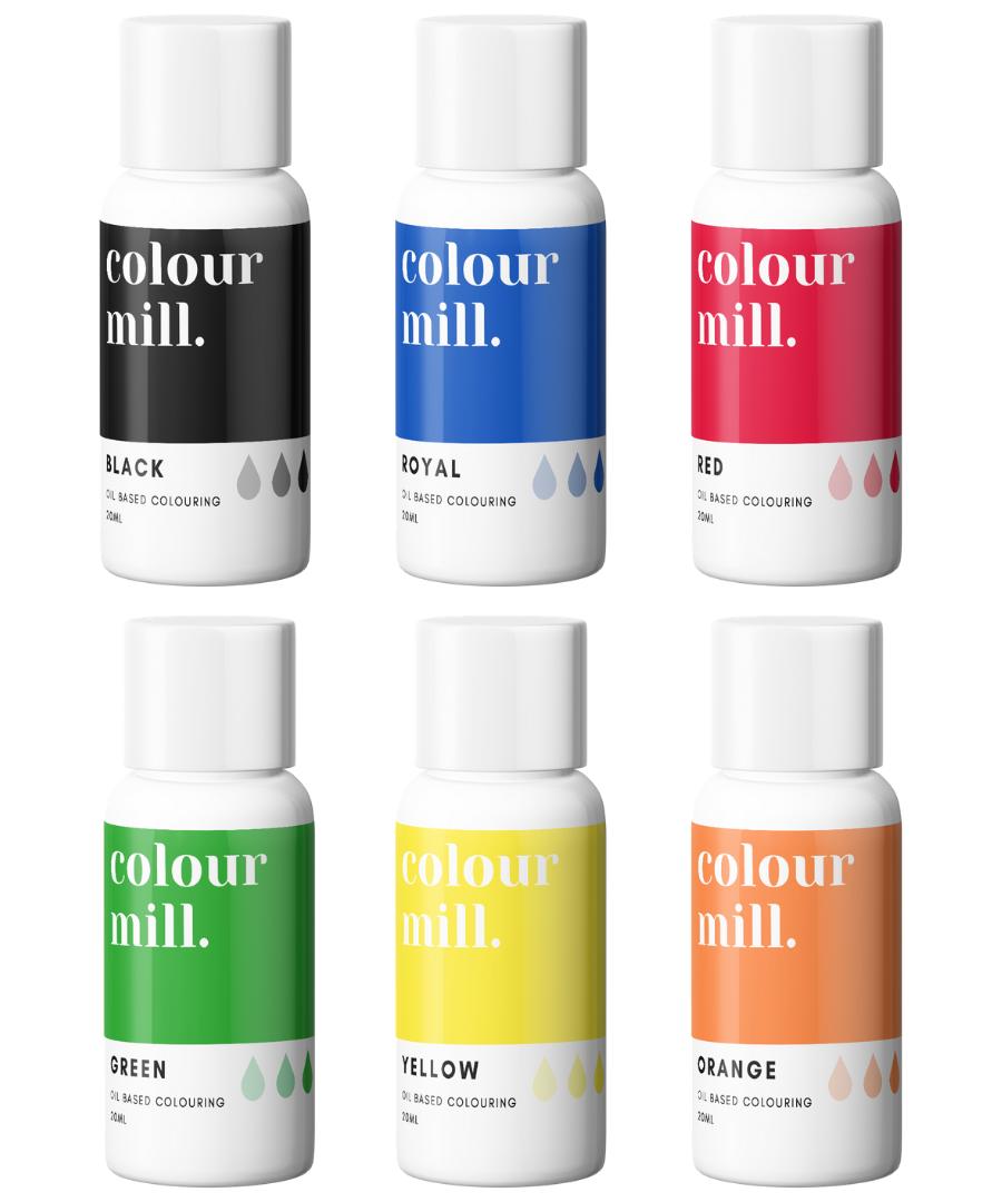 PRIMARY PACK - COLOUR MILL - OIL BASED COLOUR -  6 x 100ML bottles