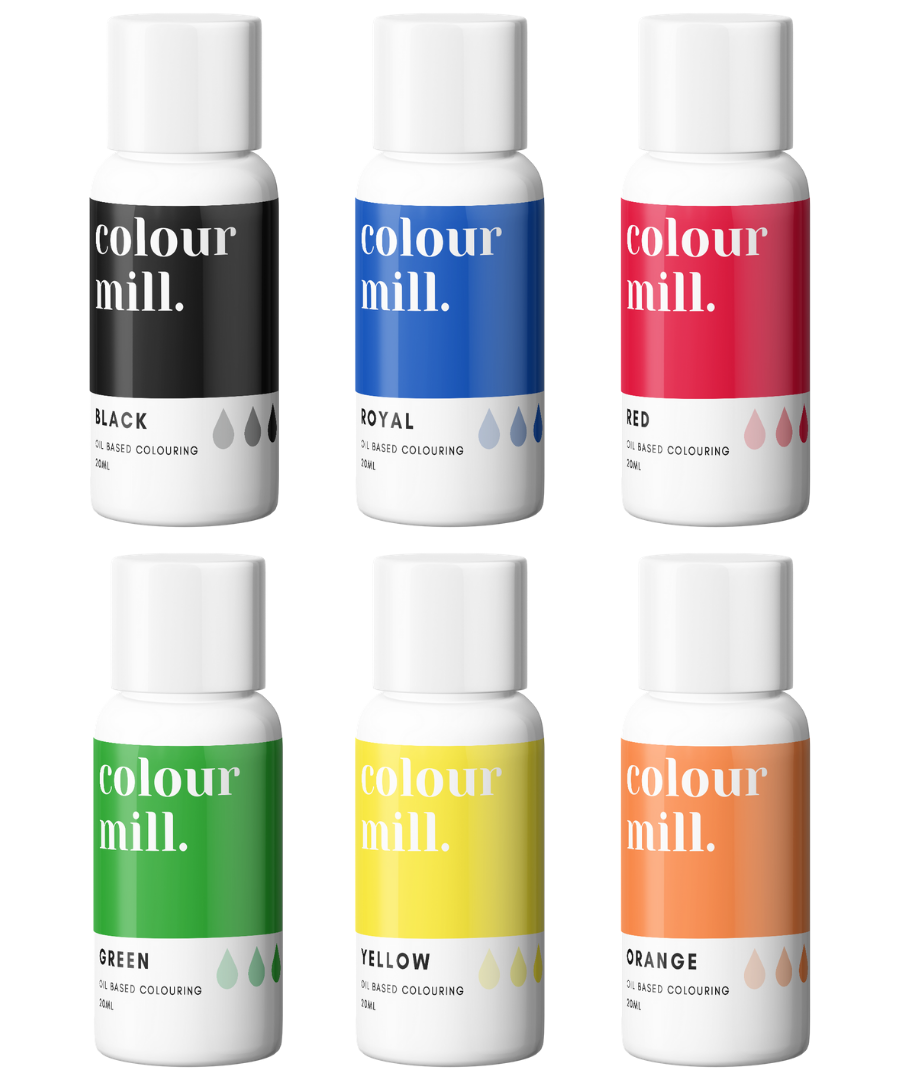 PRIMARY PACK - COLOUR MILL - OIL BASED COLOUR -  6 x 20ML bottles