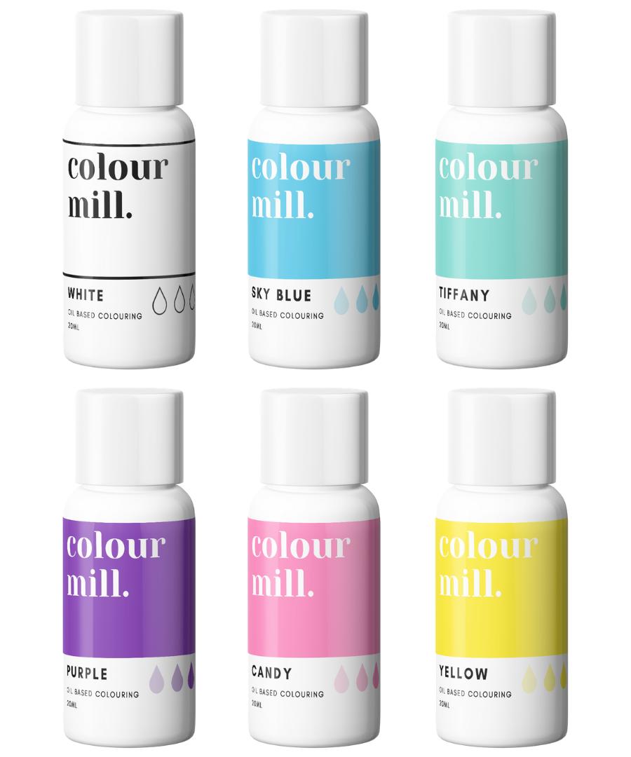 RAINBOW PACK - COLOUR MILL - OIL BASED COLOUR -  6 x 100ML bottles